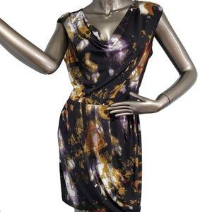 Calvin Klein Midi Dress Tie Dye Pattern Size 8